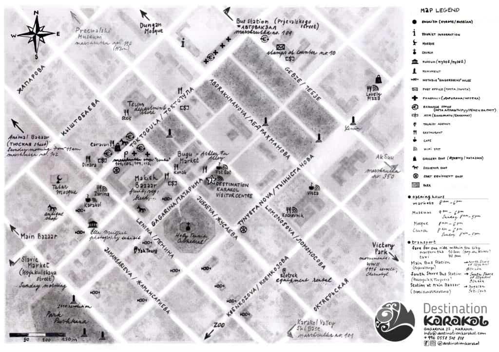 Karakol Center Map